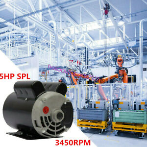 5hp Spl 3450rpm Air Compressor Electric Motor 208 230 Volts Century Single Phase
