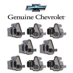 Ignition Coil Pack Of 8 For Chevy Silverado Gmc V8 Uf271 D581 C1208 12558693
