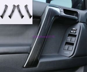 For Toyota Prado Fj150 2018 2019 Black Titanium Door Handle Decoration Trim