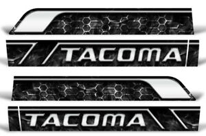 Rocker Panel Race Stripe Graphics Stickers Decals For Toyota Tacoma 16 17 Smoke