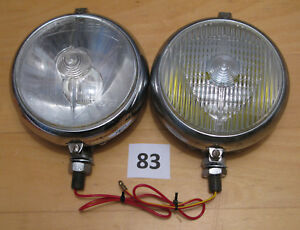 Pair Marchal 670 And 672 Fog Driving Lights Carello Hella Cibie