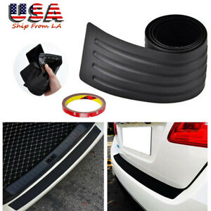 Universal Soft Car Sill Plate Bumper Guard Protector Rubber Pad Cover Trim Cover