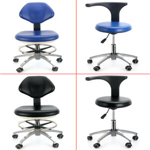 Us Pu Leather Medical Doctor s Stool Adjustable Mobile Dental Chair 360 rotation