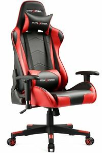 Gt Racing Gaming Lumbar Support Office Chair Adjustable With Cushion Headrest