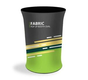 Oval Fabric Pop Up Display Booth Trade Show Exhibit Podium Promotional Counter