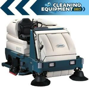 Reconditioned Tennant 8300 Battery Powered 40 Disk Rider Sweeper scrubber