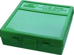 MTM PLASTIC AMMO BOX GREEN 100 Round 9mm  380 - BUY 5 GET 1 FREE
