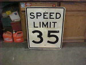 Vintage Retired Speed Limit 35 Garage Art Man Cave Bar Den Restaurant Hot Rod
