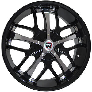 4 Wheels 18 Inch Black Chrome Savanti Rims Fits Chrysler 300 2005 2018