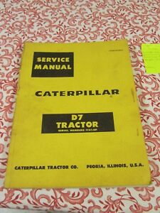 Caterpillar Tractor Service Manual D7 Tractor 17a1 up