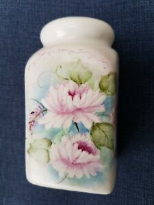 Vintage Porcelain Sugar Shaker Hand Painted Flowers