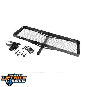 Rugged Ridge 11580 20 Trailer Hitch Kit Cargo Rack For 07 18 Jeep Wrangler jk