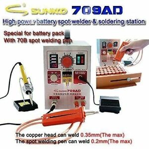 Sunkko 709ad Pulse Spot Welder 18650 Battery Welding Soldering Machine 110v
