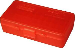 MTM PLASTIC AMMO BOX RED 50 Round 40 S&W  45 ACP - BUY 5 GET 1 FREE