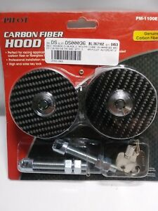 Pilot Automotive Carbon Fiber Hood Pin Kit Key Lock Pm 1100e