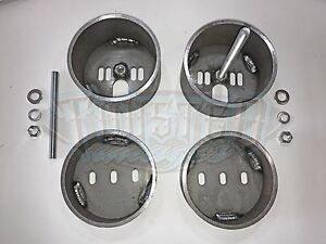 Front Air Bag Brackets Universal Cup Mount Set W Hardware Free Shipping