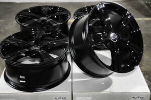 18x8 Black Wheels Fits Accord Infiniti G25 G35 G37 G37x Rav4 Matrix Camry Rims