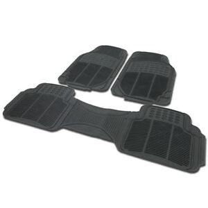 Heay Duty Rubber Custom Floor Mats Front Rear 3pcs Fit Ford Crown Victoria Etc