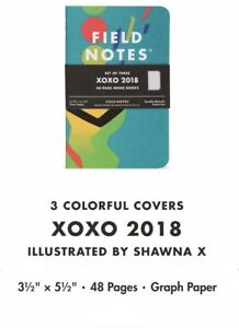 Field Notes Xoxo Festival 2018 Edition New Sealed Notebook 3 pack