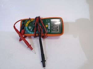 Extech Ex 410 8 function Professional Digital Multimeter Dmm W Probes Cat 3