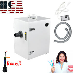 Dental Lab Digital Single row Dust Collector Vacuum Cleaner 370w Machine Updated