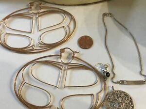 44 Grams Of Sterling Silver Wear Or Scrap Small Defects Xxl Earrings Anklet Etc
