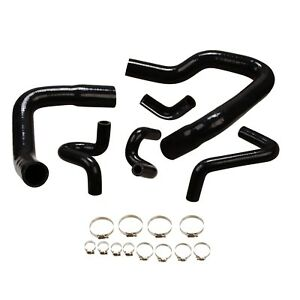Silicone Radiator Hose Kit For 1986 1993 Ford Mustang Gt Lx Cobra 5 0 Black