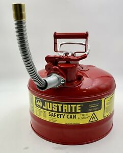 Justrite 7225120 2 5 gallon Type Ii Safety Can With 5 8 Flexible Hose