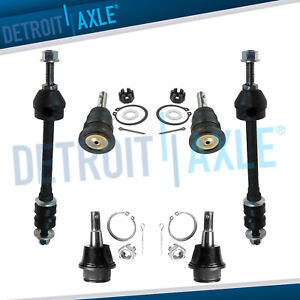 For 2006 2008 Dodge Ram 1500 Front Upper Lower Ball Joints Sway Bar Links 4wd