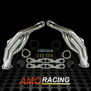 Heavy Duty Truck Headers Fit Sbc 88 95 Chevy gmc 1500 2500 3500 Ceramic Coated