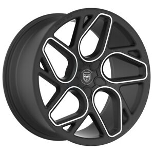 4 Gwg Bremen 20 Inch Satin Black Machined Rims Fits Ford Mustang Cobra R 2000