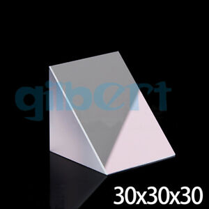 30x30x30mm Optical Glass Triangular Lsosceles K9 Prism With Reflecting Film