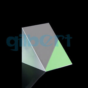 40x40x40mm Optical Glass Triangular Lsosceles K9 Prism With Reflecting Film