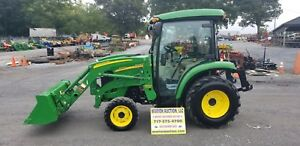 2011 John Deere 3520 Compact Tractor W loader And Cab