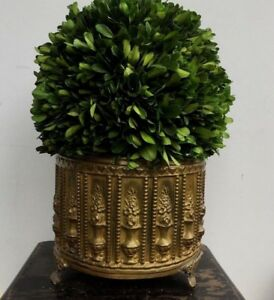 Antique French Brass Cache Pot Toleware Charles Faudree Estate