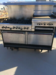 Garland Commercial 6 Burner Nat Gas Stove Restaurant Range W 2 Ovens