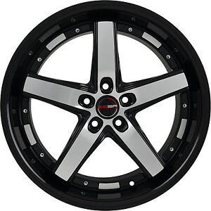 4 Gwg Wheels 18 Inch Black Machined Drift Rims Fits Acura Integra Type R 2000 01
