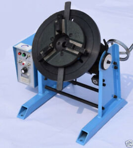 1 15rpm 30kg Duty Welding Positioner Turntable Timing With 200mm Chuck 220v