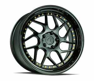 18x9 5 Aodhan Ds01 5x114 3 22 Gloss Black Wheels new Set