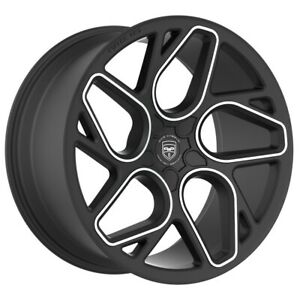 4 Gwg Bremen 20 Inch Satin Black Machined Rims Fits Honda Civic Coupe 2012 2015