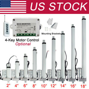 2 18 Inch Linear Actuator 1500n 330lbs Electric Motor Dc12v Auto Lift Sofa Bed