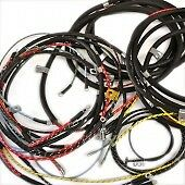 Complete Wiring Harness Fits Willys Jeepster F head 4 Cyl W oturn Signals 50 51