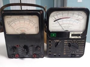 Eico And Precision 120m Vintage Handheld Analog Multimeters Lot Of 2