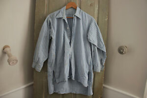 Work Wear Shirt Men S Workwear Clothing Plaid Blue And White 1930 S Chore Shirt