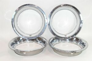 16 Inch Rally Wheel Deep Trim Rings Lot Of 4 Stainless Steel Unknown Fitment