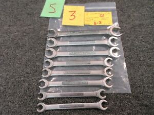 8 Pc Craftsman Standard sae Flare Nut Wrench Tool V Vv 1 4 To 11 16 Used