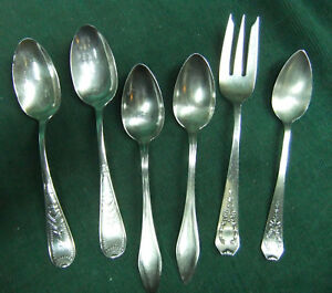 Vintage Sterling Silver Spoons Mixed Lot