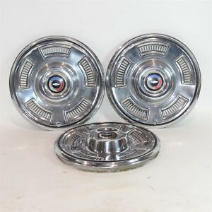 67 1967 Chevy Chevelle Hubcaps Lot Of 3 Hub Caps