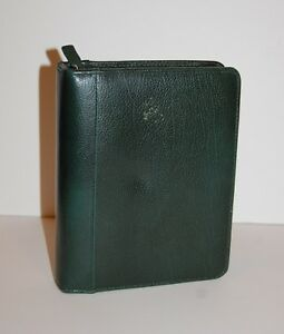 Compact Franklin Covey Planner Dark Green Pebbled Leather Large 1 75 Rings
