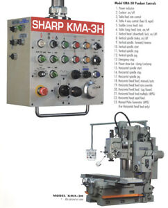 86 6 Tbl 20hp Spdl Sharp Kma 3h Horizontal Mill Horizontal Mill Bed type 50 T